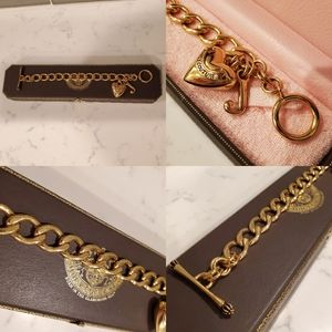 Juicy Couture, Heart Chain Link Bracelet, Gold Ton